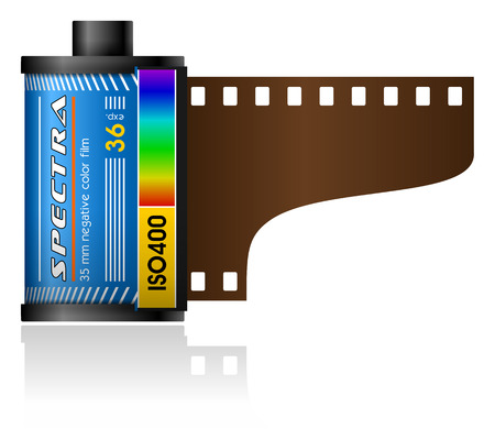 sensitivity: 35mm film canister Illustration