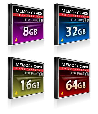 compact disk: Set of CompactFlash memory cards