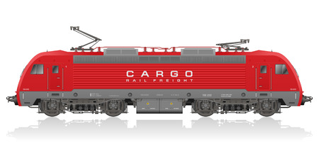 freight: Detailed photorealistic model of electric locomotive