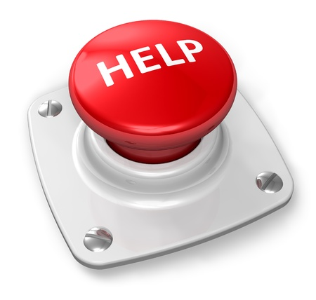 Red help button Stock Photo - 8882500