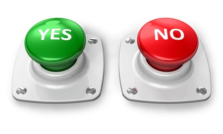 Yes and No buttons photo