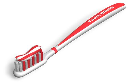 Tooth brush with toothpaste Stock Photo - 8882496