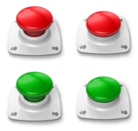 Set of pressed and depressed buttons Stock Photo - 8882512