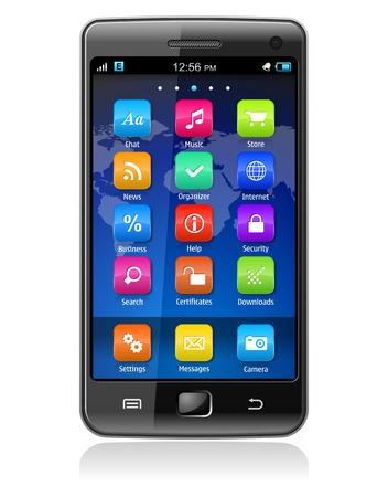 Touchscreen smartphone *** Design of this device is my OWN Vektoros illusztráció