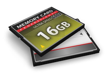 High speed CompactFlash memory cards Stock Photo - 8920570