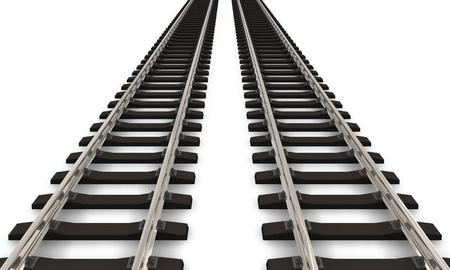 ferrocarril: Dos ferrocarriles pistas Foto de archivo
