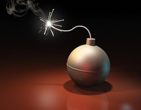 Burning bomb photo