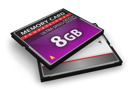 High speed CompactFlash memory cards Stock Photo - 8994857