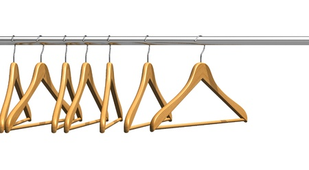 clothing rack: Coat hangers on clothes rail