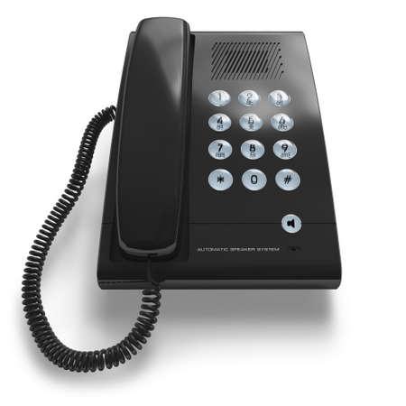 Black office phone photo
