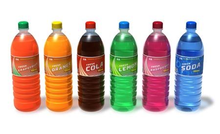 acqua di seltz: Set di bevande in bottiglie di plastica rinfrescanti