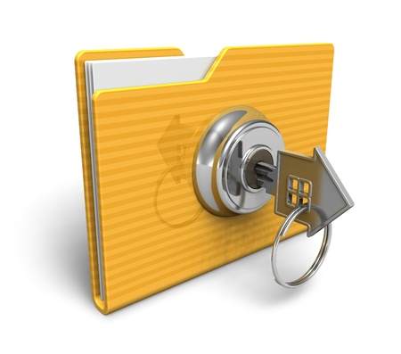Security concept: locked folder Stock Photo - 9034371