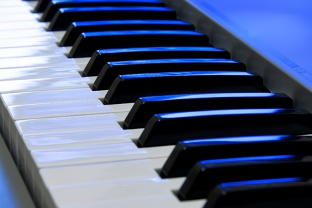 choral: Piano keyboard Stock Photo