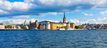 sweden: Panorama of the Old Town in Stockholm, Sweden