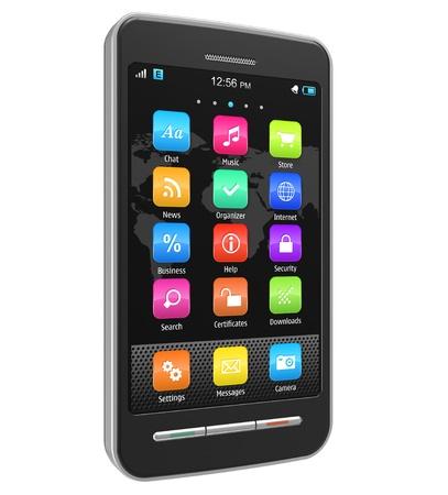 phone message: Touchscreen smart phone