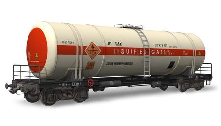 Gasoline tanker railroad cart photo