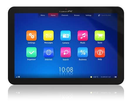 touch screen interface: Tablet PC