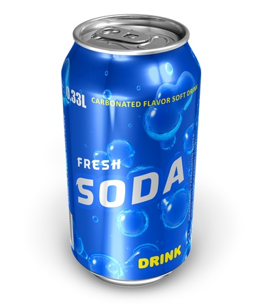 Refreshing soda drink in metal can *** Design and text labels of this drink can is MY OWN Stock Photo - 9168834