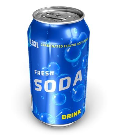 acqua di seltz: Rinfrescante nelle bibite in metallo possono *** le etichette di testo e Design di questa bevanda pu� � MY OWN Archivio Fotografico