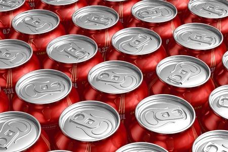 acqua di seltz: Macro di metallo lattine con bevande rinfrescanti