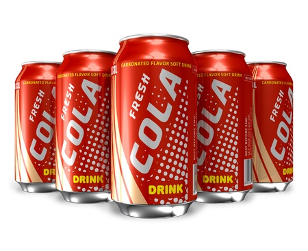 Set of cola drinks in metal cans *** DESIGN OF THESE DRINK CANS IS MY OWN Stock Photo - 9227929