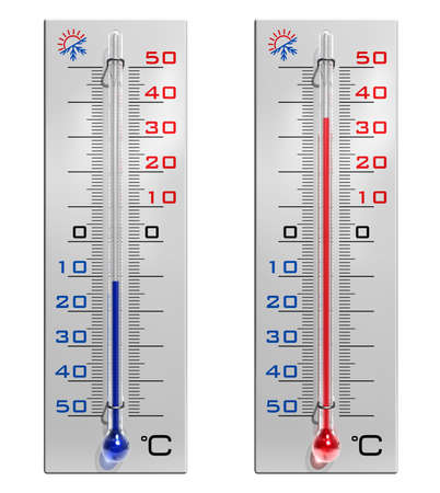 sunstroke: Set of thermometers Stock Photo