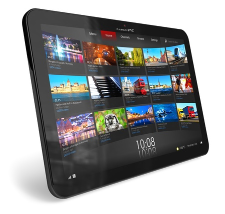 umpc: Tablet PC *** DESIGN OF THIS DEVICE IS MY OWN. PLEASE SEE RELEASE FOR DETAILS Stock Photo