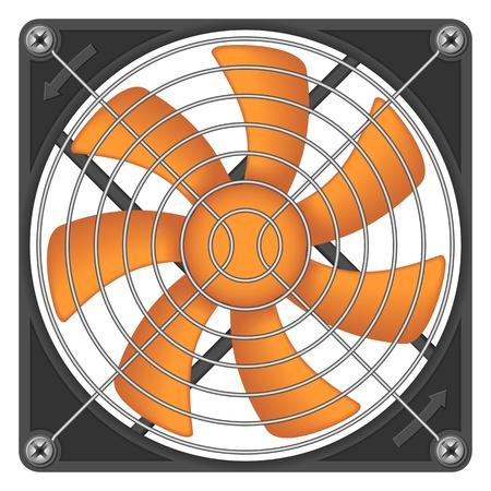 Computer chassis/CPU cooler Stock Vector - 9227900