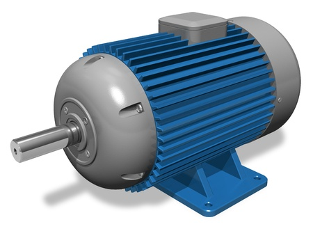 Industrial electric motor photo
