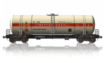 liquified: Gasoline tanker railroad car