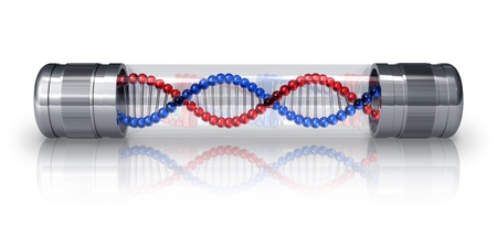 genetica: Molecola di DNA in capsula ermetico