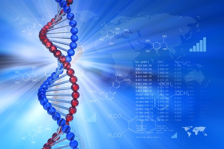 Genetic engineering scientific concept Stock Photo