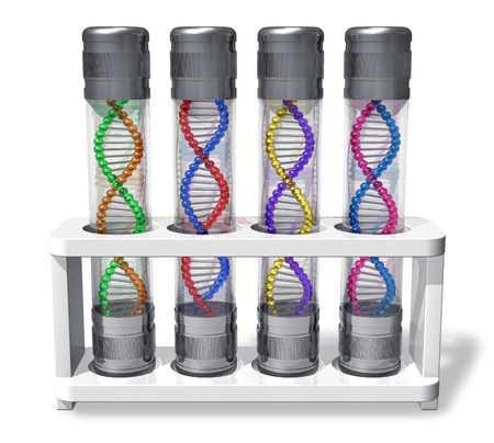 Set of capsules with DNA molecules photo