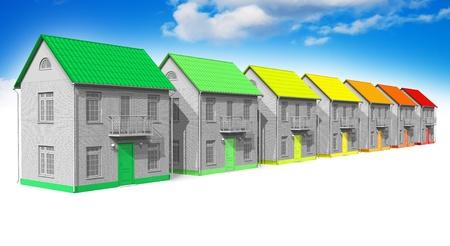 energy efficient: House energy efficiency concept Stock Photo