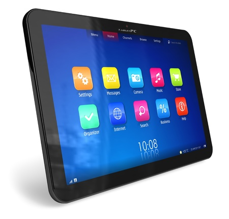 Tablet PC *** DESIGN OF THIS TABLET PC IS MY OWN Stock Photo - 9341115