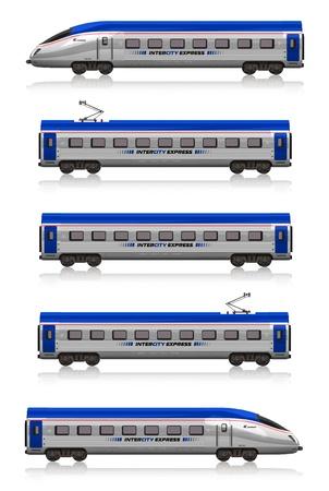 entrenar: Conjunto de tren interurbano de Express Foto de archivo