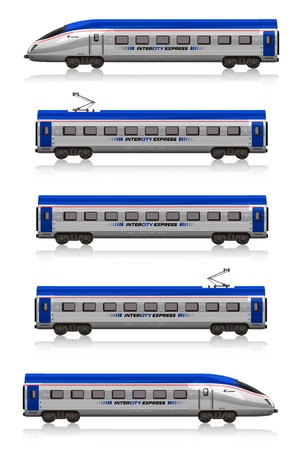 wagon: InterCity Express train set Stock Photo