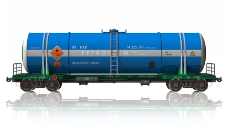 liquified: Gasoline tanker railroad car *** DESIGN OF THIS TANK CAR IS MY OWN