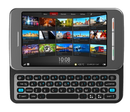 slider: Side slider touchscreen smartphone  Stock Photo
