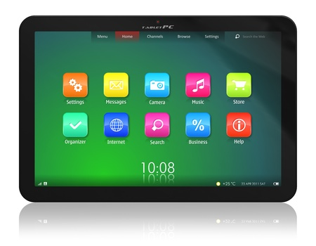 Tablet PC *** DESIGN OF THIS DEVICE IS MY OWN. PLEASE SEE RELEASE FOR DETAILS Stock Photo - 9371941