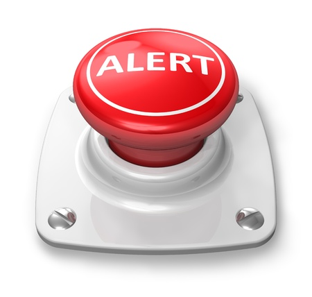 Red alert button Stock Photo - 9371938