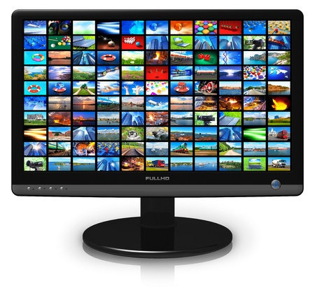 lcd display: LCD display with picture gallery Stock Photo