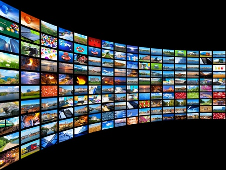 displays: Streaming media concept