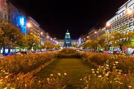 Nacht Prag, Tschechische Republik Standard-Bild - 9439457