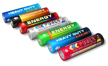 hydride: Set of AA batteries *** DESIGN OF ALL THESE BATTERIES IS MY OWN, ALL TEXT LABELS ARE FULLY ABSTRACT