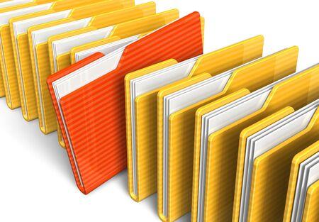 carpeta: Fila de carpetas de archivo
