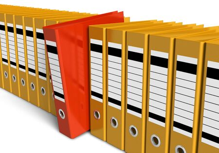 Row of office folders Stock Photo - 9535628
