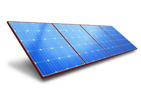 paneles solares: Panel de bater�a solar Foto de archivo