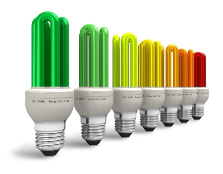 electric bulb: Energy efficiency concept