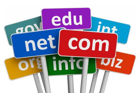 domains: Domain names and internet concept Stock Photo